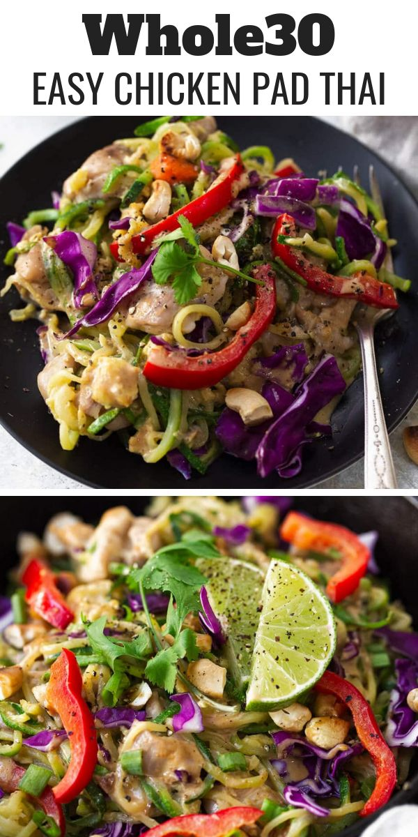 Whole30 Chicken Pad Thai