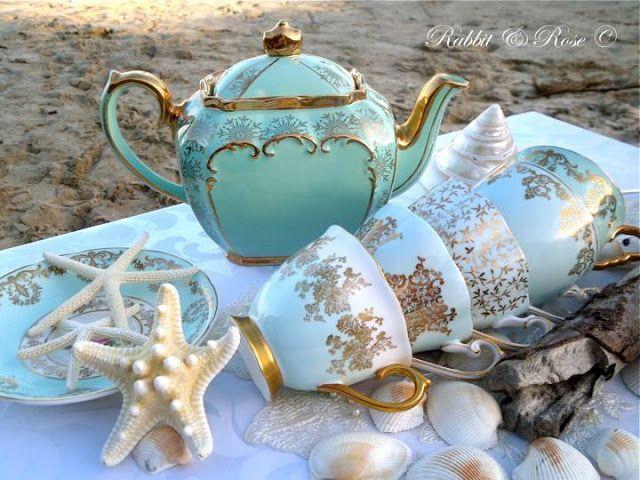 Faith Hope and Cherrytea: Summer Joys ~ Tea party at the shore!!!!