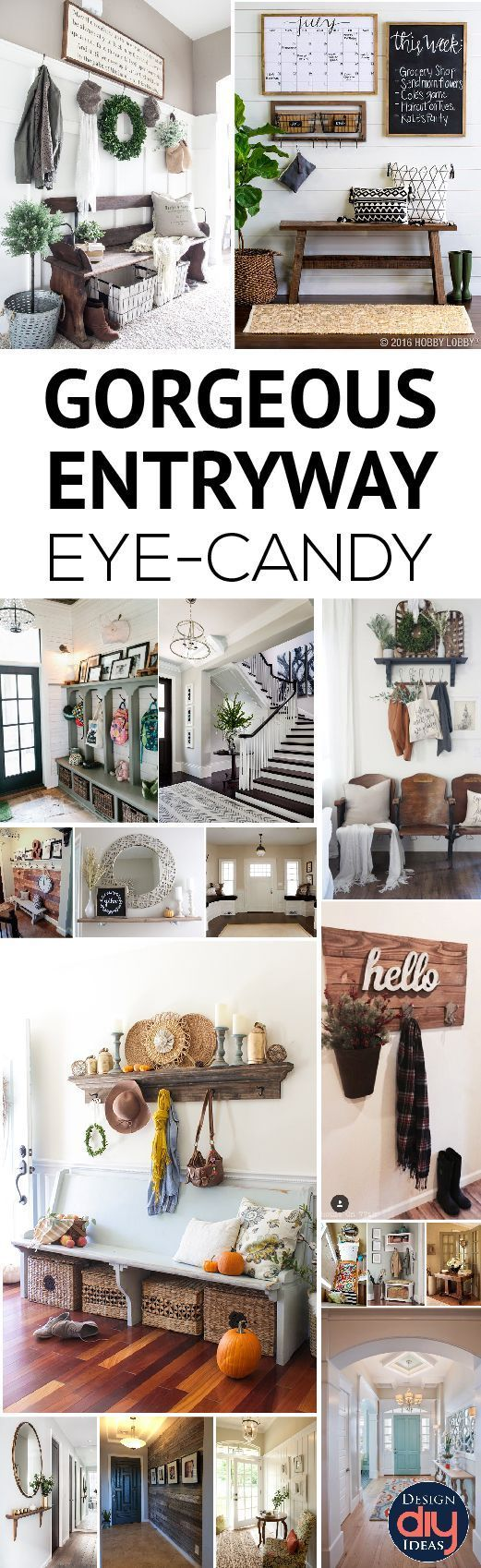 """Oprah said, """"Your home should rise up and greet you"""" and we all know she knows her stuff. The entryway...  Read more »"""