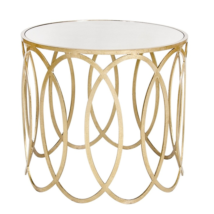 New! Worlds Away Olivia Silver Oval Side Table from@LaylaGrayce #laylagrayce #new #furniture