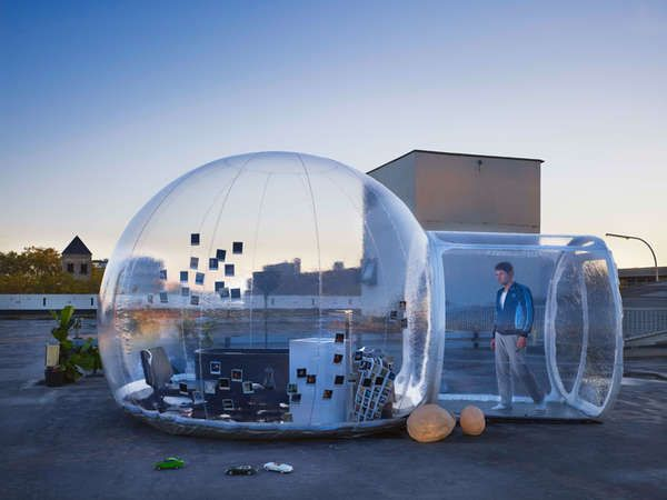 The Bubble Bathroom Can be Inflated and Used Anywhere #camping #outdoors trendhunter.com