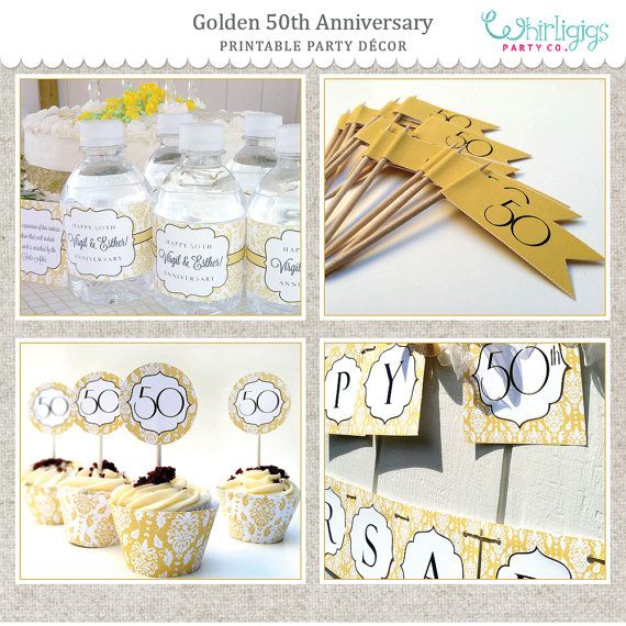 50 Wedding Anniversary Party Ideas: 50th Golden Anniversary Printable Party