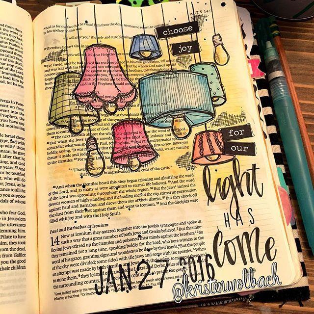 Bible Journaling by Kristen Wolbach @kristenwolbach