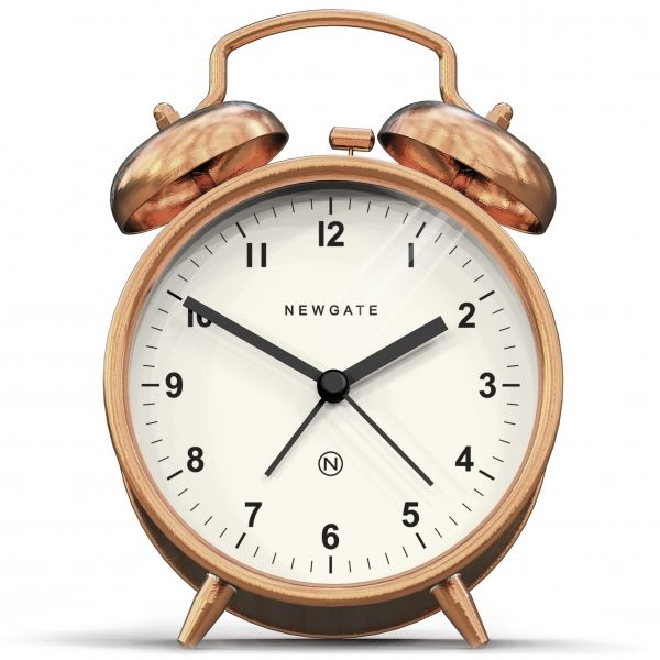 Newgate clocks | Copper Charlie Bell Alarm Clock | Cult Furniture
