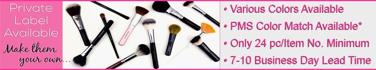 Professional Private Label Makeup/Cosmetic Brushes