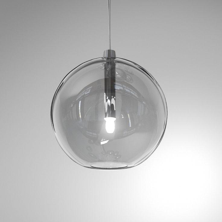 Seltia Aire transparent hanging pendant glass lamp no decor