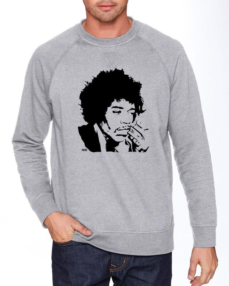 Jimi Hendrix Sweatshirt, Jimi Hendrix Shirt, Rock Band Sweatshirt, Personalised Son Gift, French Terry Fleece, Custom Crewneck Sweatshirt by MONOFACESoADULT on Etsy