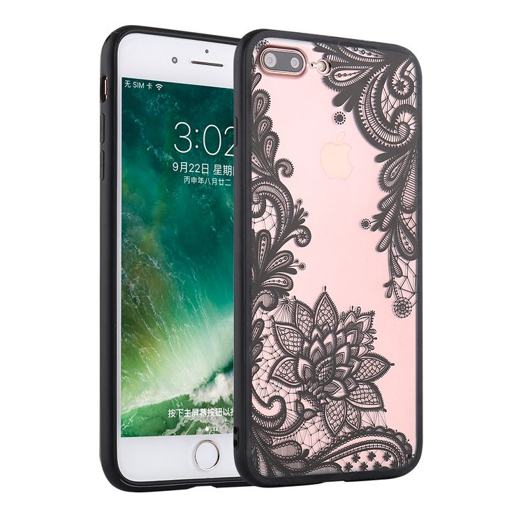 Sexy Retro Floral Phone Cases For Apple iPhone 7 6 6s 5 5s SE Plus Lace Flower Hard PC +TPU Case Back Cover Capa For iPhone7Plus