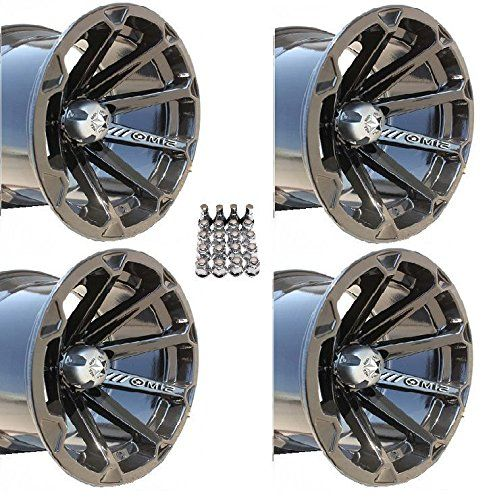 "MSA M12 Diesel ATV Wheels/Rims Black 14"" Honda Rincon IRS Deep Dish (4). For product info go to:  https://www.caraccessoriesonlinemarket.com/msa-m12-diesel-atv-wheels-rims-black-14-honda-rincon-irs-deep-dish-4/"