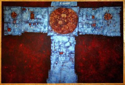 Mikuláš Medek - Picture of the altar in Jedovnice  #painting #art #Czechia
