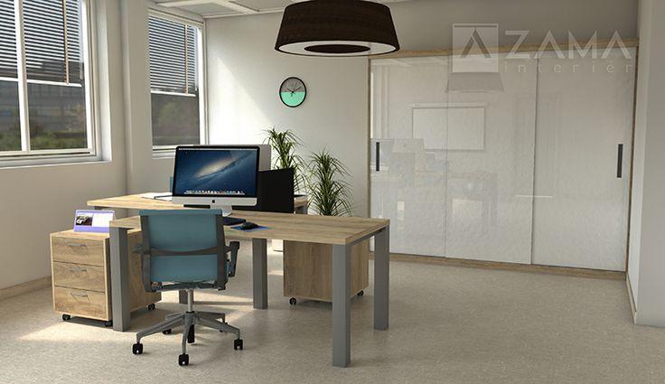 Presvetlené pracovisko s odľahčeným nábytkom