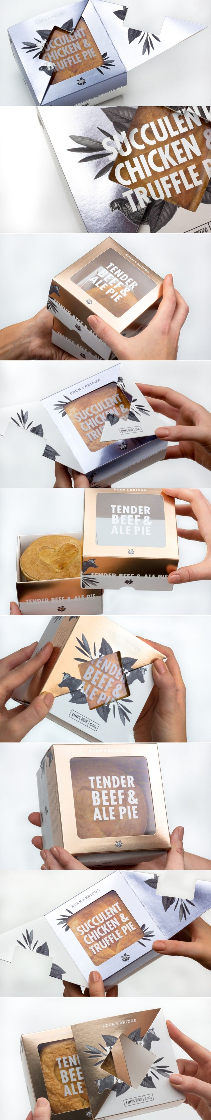 Eden & Bridge Luxury Pie — The Dieline - Branding & Packaging Design