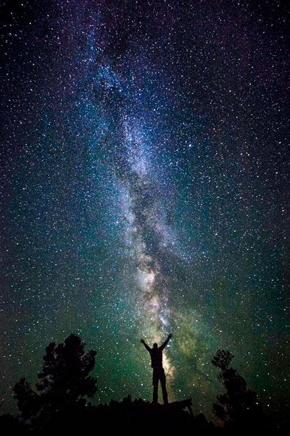 Photographer Thomas O'Brien captured this self-portrait under the Milky Way  at Great Basin National Park in Nevada