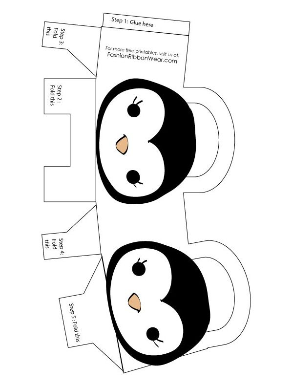 penguin printable bag