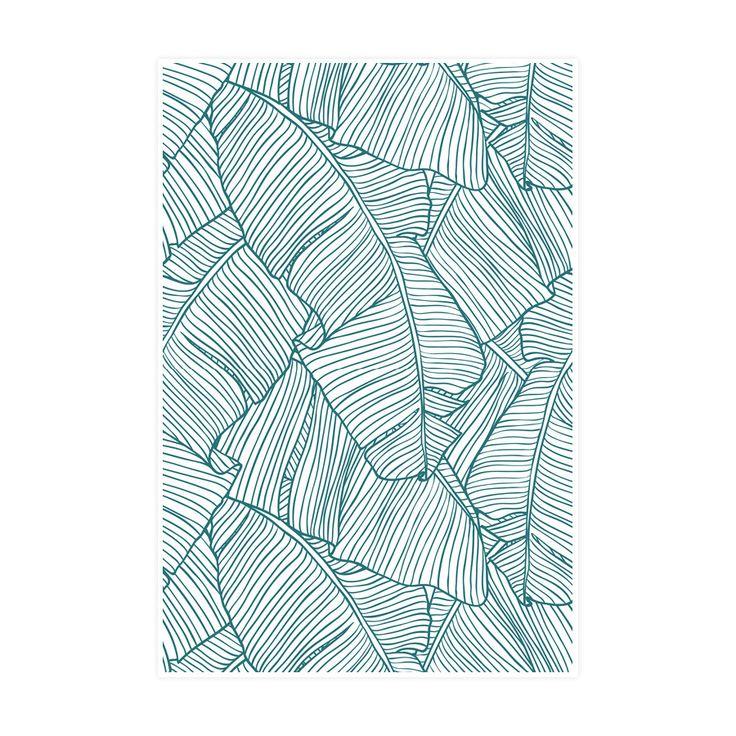 The Palms in White | Art Print | WallsNeedLove
