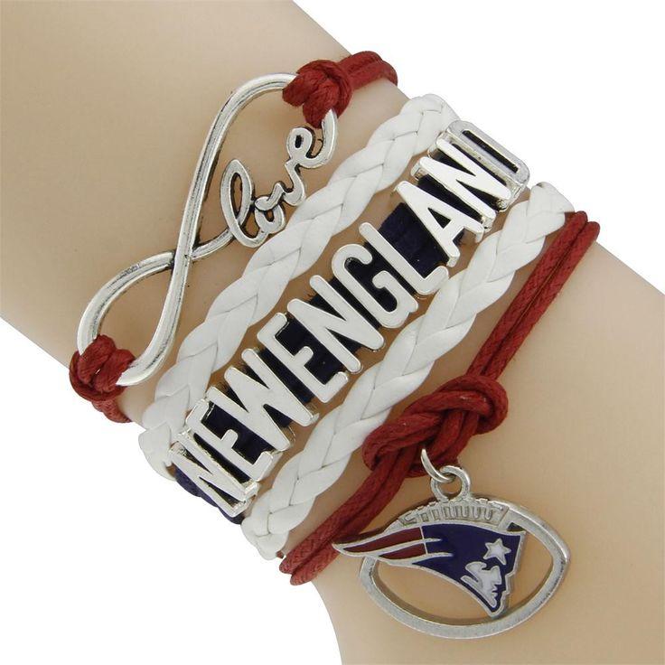 NFL New England Patriots Multi-Strand Infinity Team Bracelets