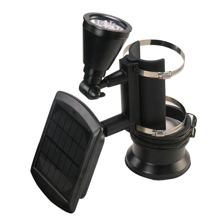 Black Outdoor Solar Powered 4-LED Flagpole Light  sc 1 st  Pinterest & Best 25+ Flagpole lighting ideas on Pinterest | Flag pole lights ... azcodes.com
