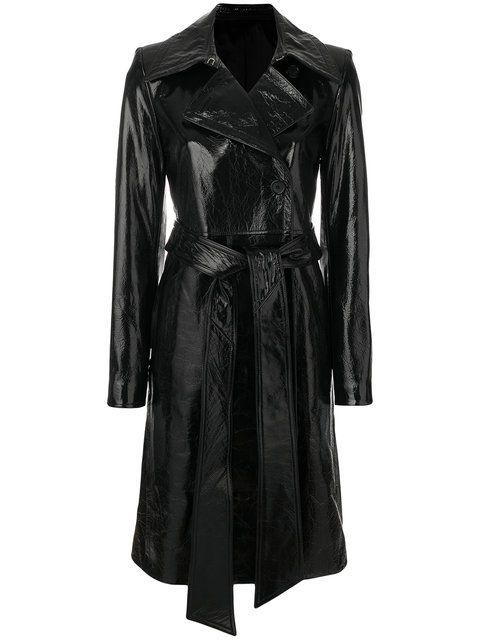 HELMUT LANG patent trench coat. #helmutlang #cloth #
