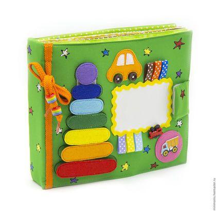 Развивающие игрушки ручной работы. Ярмарка Мастеров - ручная работа. Купить (в наличии) Развивающая книга из ткани на 6 страниц (1-4 year). Handmade.