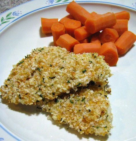 Baked Crunchy Flounder- Simply seasoned and crunchy baked flounder recipe. Perfect for an easy weeknight dinner. Serve with steamed vegetables or a healthy salad for a complete, heart healthy meal without a lot of cholesterol or calories.