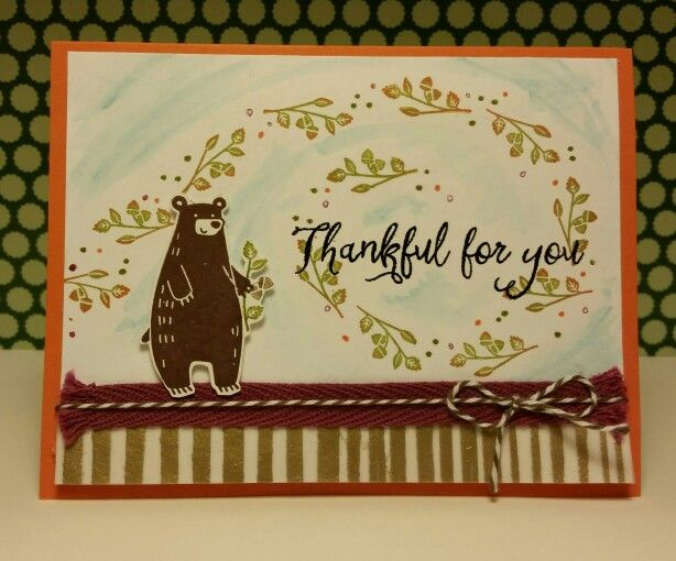 Thankful Forest Friends from Stampin'Up.  Missing my family but so thankful for all our blessings.
