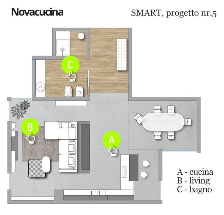 Progetto SMART nr.5 - Pianta #design #project #arredamento #home #architecture