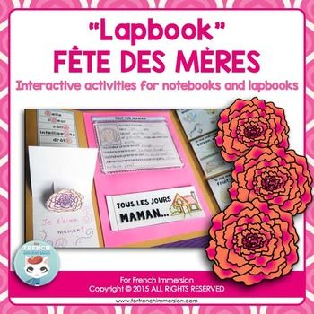 French Mother's Day Lapbook - Fte des MresReady to try out something fun and engaging for Mother's Day? Something that your students will proudly display to their families and beg you to do again?This set of foldable activities, which can be used to create lapbooks and interactive notebooks, is what Im talking about.READ BEFORE PURCHASING: this lapbook is included in the newly released Lapbook Growing Bundle.