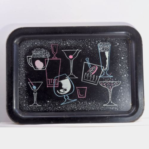 Mid-Century-Atomic-Age-serving-tray-Cocktail-Martini-Beer-amp-Champagne-glass-5