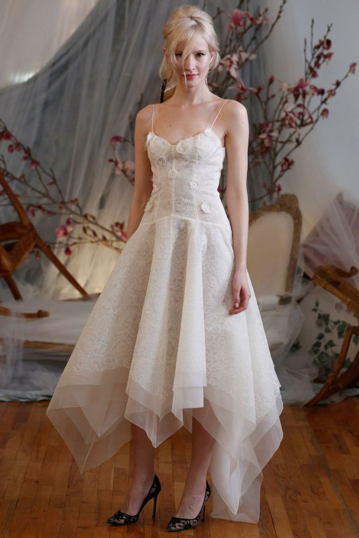 Playful wedding dress from Elizabeth Fillmore's Spring 2016 collection.