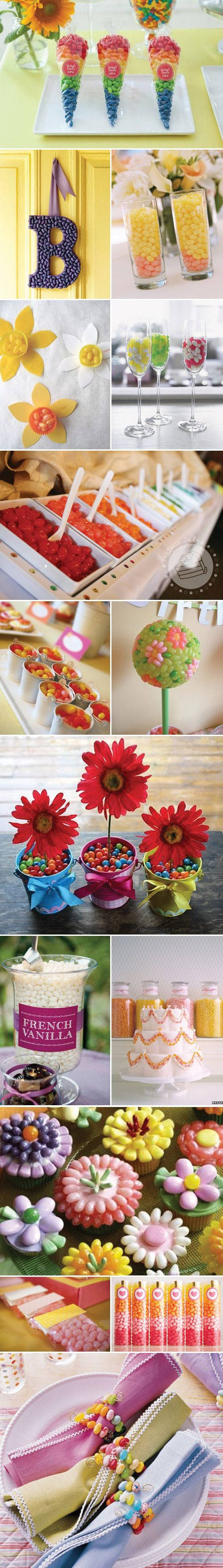 Peachy Keen Jellybean: all the cute and creative ways to use jellybeans at parties and events – as decor, as favors and of course, as treats for the guests!