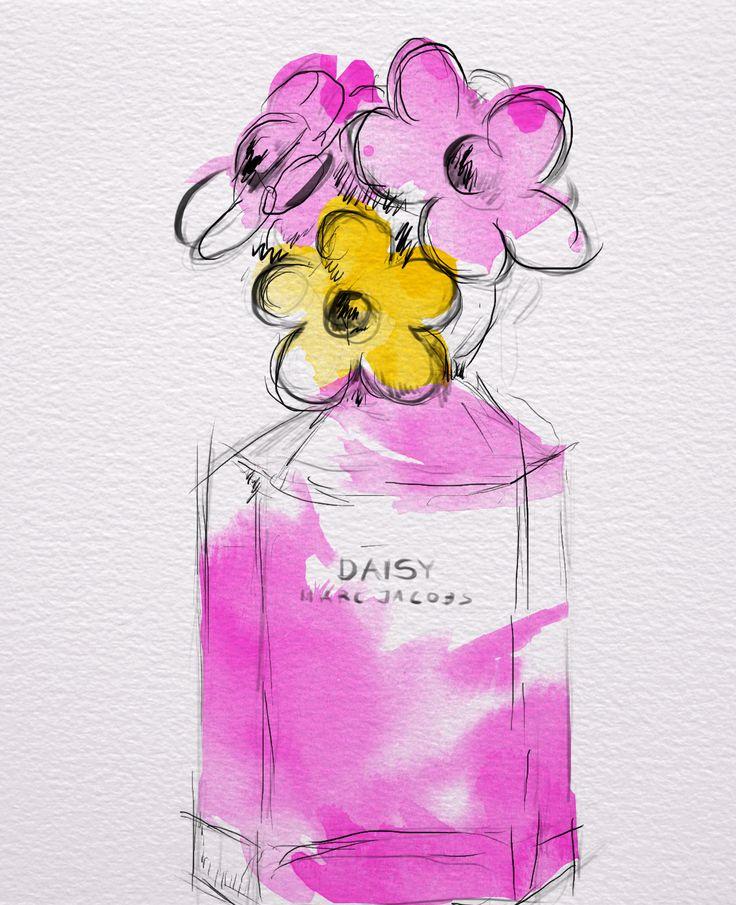 #daisy #marcjacobs #perfume #watercolour