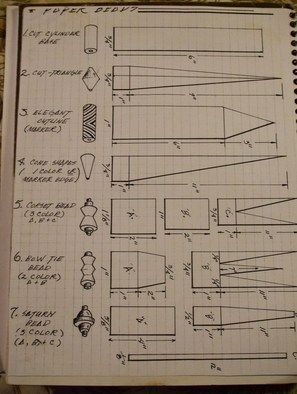 Basic Paper Beads Instructions and Templates on Cut Out + Keep at http://www.cutoutandkeep.net/projects/basic-paper-beadsinstructions