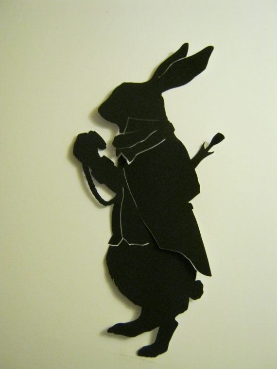 The March Hare Silhouette by silhouettesbycarolin on Etsy