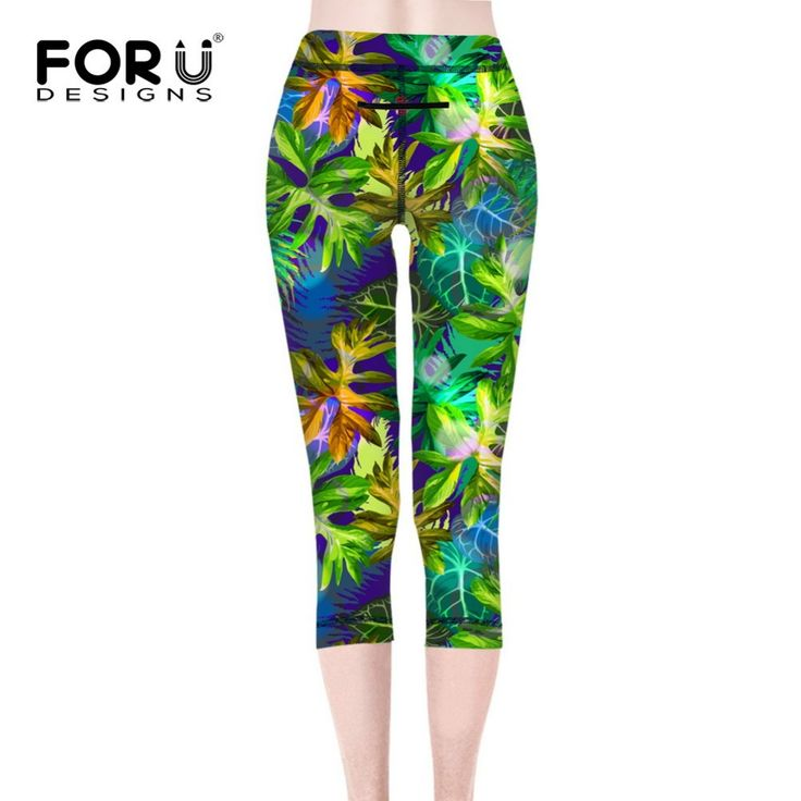 FORUDESIGNS Women Elastic Fitness Leggings Yoga Pants Quick Drying Women Compression Running Sports Tights Small Floral Girls                                                                        Q:Idon'tliketheproduct,itdoesnotmatchthedescription?...