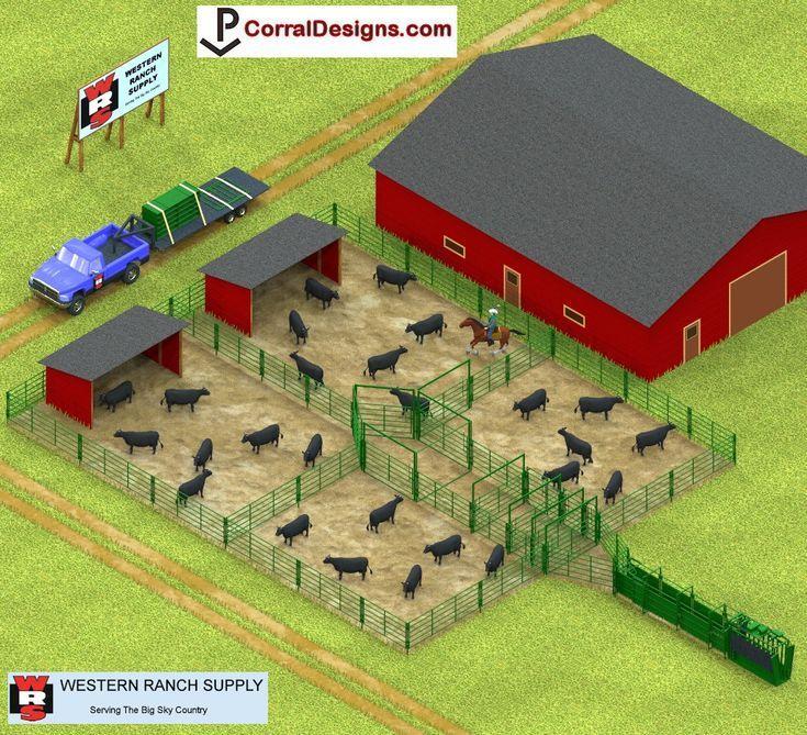 Corral designs livestock fence cattle barn farm layout