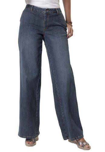 Woman Within Plus Size Tall jean, stretch, wide leg for only $34.99