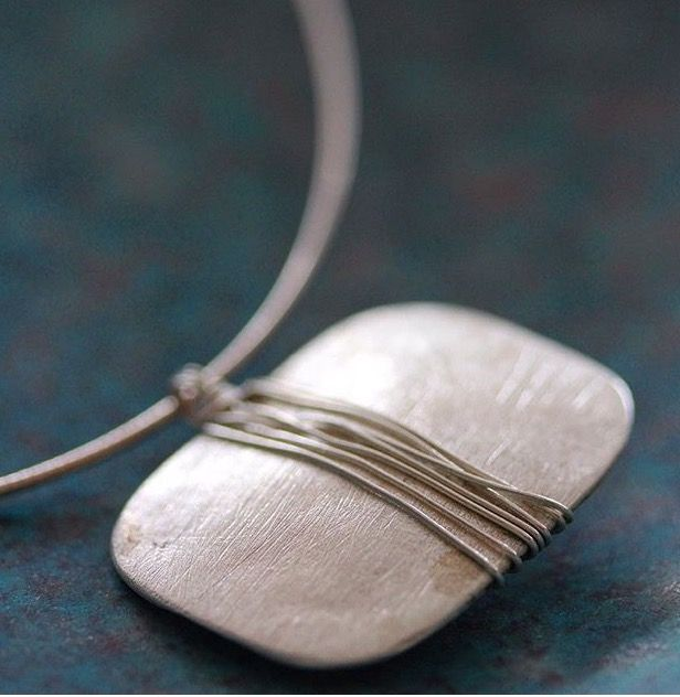 Stories of Silver Silk necklace