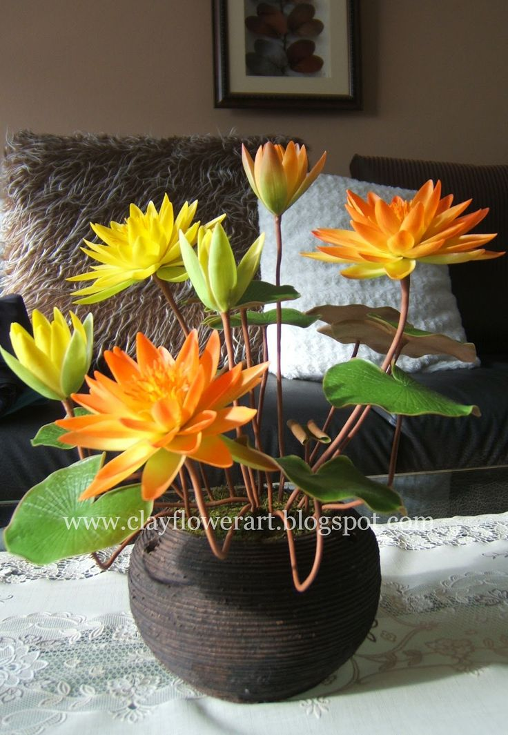 Water Lily - Thai Clay Flowers | Clay Flower Art
