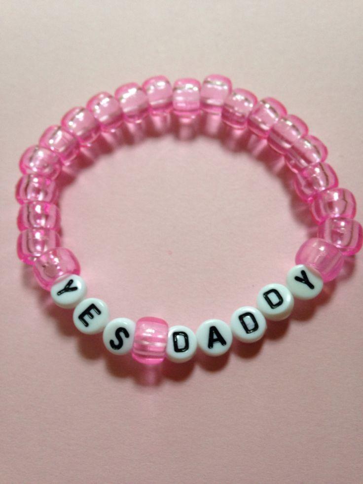 Yes, Daddy? Bracelet, $3.00   www.etsy.com/shop/shoppeculiar  #ddlg #daddy #tumblr