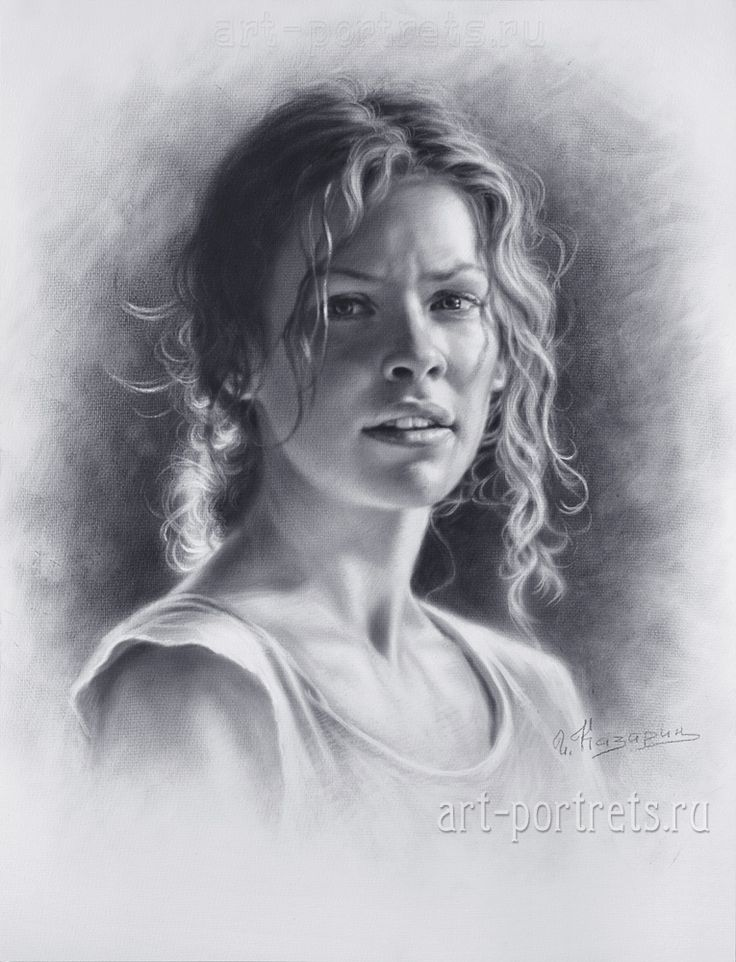 Drawing a portrait of evangeline lilly by drawing portraits on deviantart