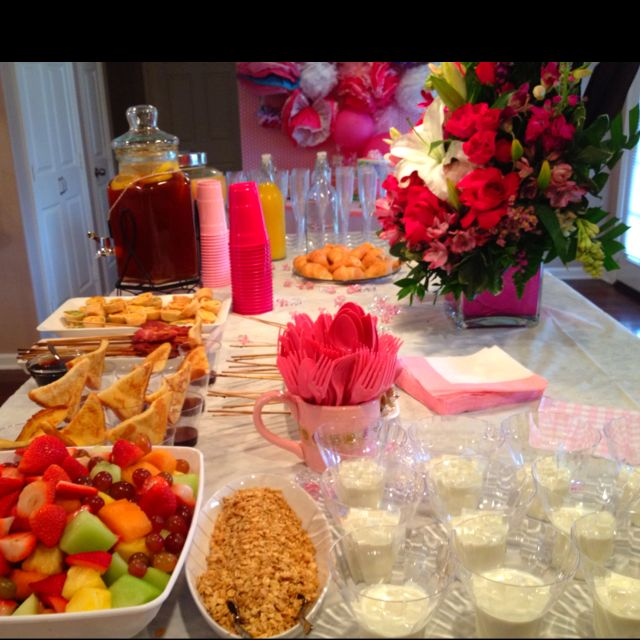 Baby shower brunch  - fruit & yogurt bar