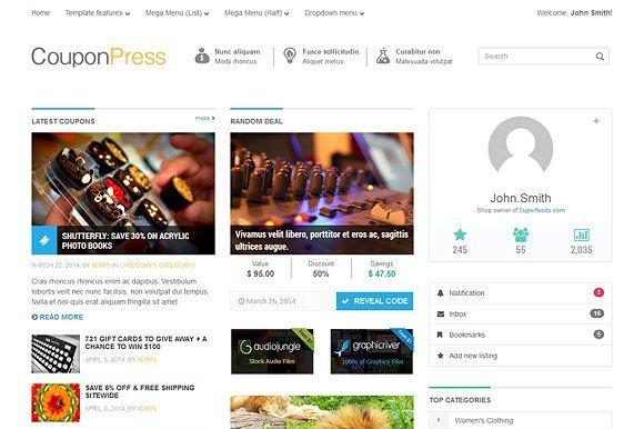 CouponPress [HTML] #FlexSlider#devices#design#jQuery