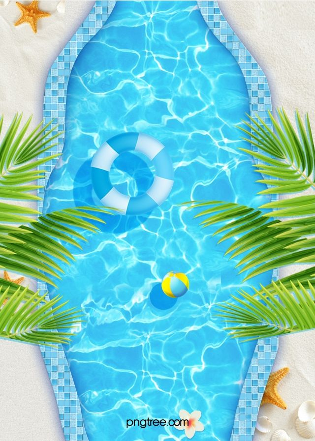 Blue Creative Texture Swimming Pool Background Hand Painted Textures Art Wallpaper Background