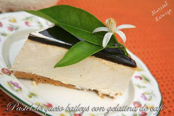 Kanela y Limón: Tarta de queso baileys y gelatina de café