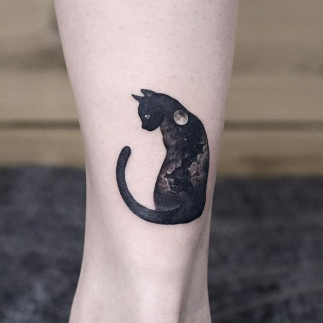 Black cat tattoo                                                                                                                                                     More