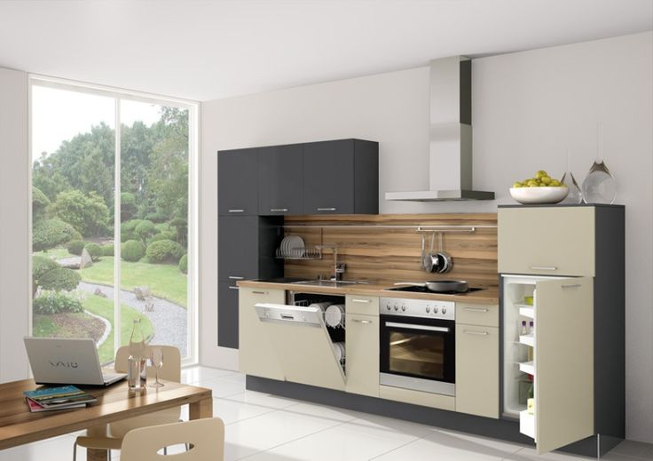 small gray and beige kitchen