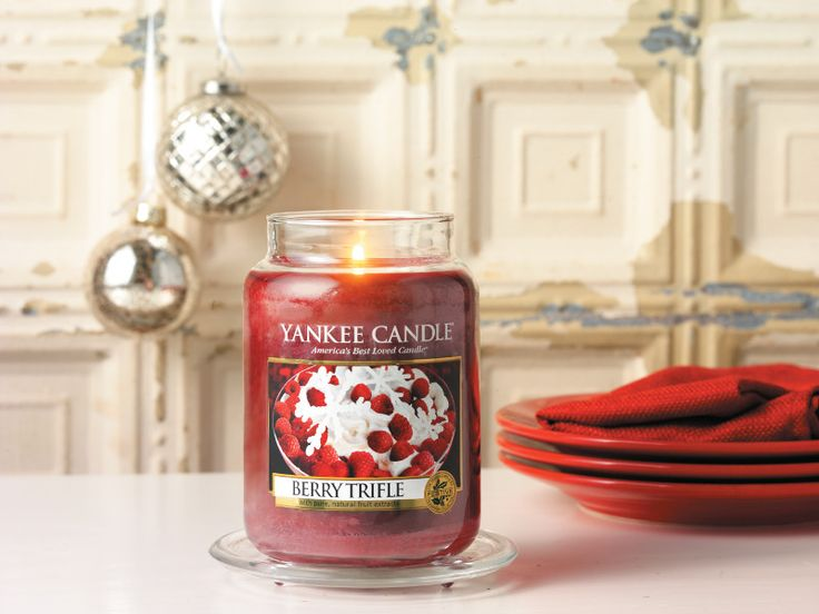 A tasty morsal to cosy up to this festive season with our new #YankeeCandle #BerryTrifle #Festive fragrance.