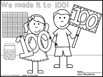 hundreth day coloring pages - photo#22
