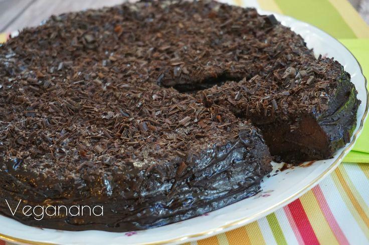 Veganana: Bolo de Banana-da-Terra com Alfarroba (Sem açúcar e sem farinha)