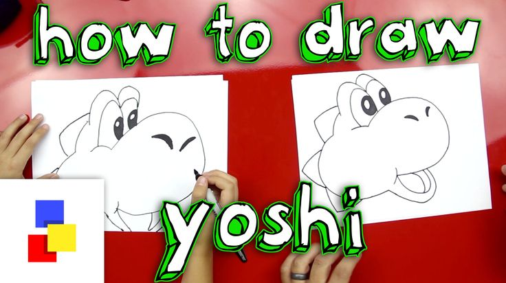 Simple steps on how to draw Yoshi!  *** Done ***
